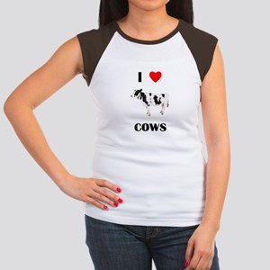 I love cows Women's Cap Sleeve T-Shirt