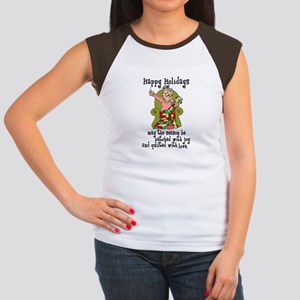 Happy Holidays - Quilter Women's Cap Sleeve T-Shir
