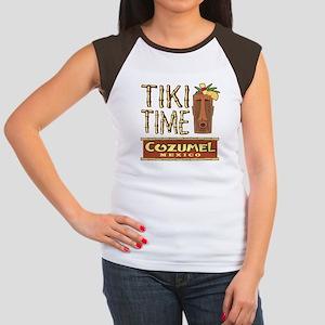 Cozumel Tiki Time - Women's Cap Sleeve T-Shirt