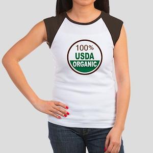 100% USDA Organic... Women's Cap Sleeve T-Shirt