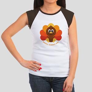 Happy Turkey Day Women's Cap Sleeve T-Shirt
