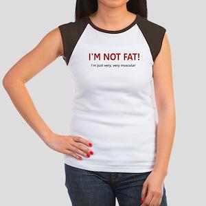 I'M NOT FAT JUST VERY VERY MU Women's Cap Sleeve T
