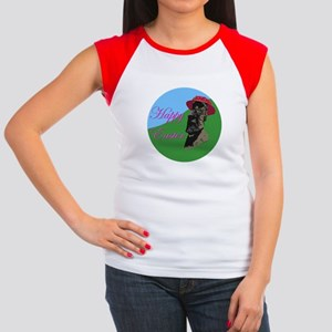 Happy Easter Island Women's Cap Sleeve T-Shirt