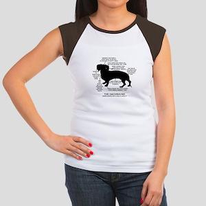 Dachshund Chart Women's Cap Sleeve T-Shirt