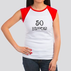 50th birthday gifts 50 happens Women's Cap Sleeve