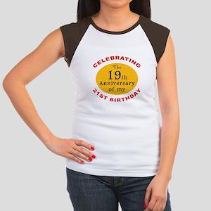 Celebrating 40th Birthday Women's Cap Sleeve T-Shi