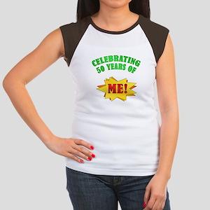 Funny Attitude 50th Birthday Women's Cap Sleeve T-