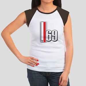 69 Red Whirte Women's Cap Sleeve T-Shirt
