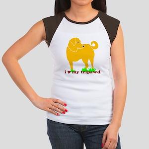 Golden Tripawd Love Women's Cap Sleeve T-Shirt
