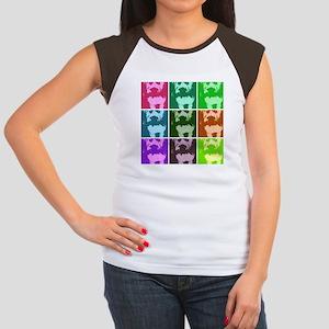 Wheaton Terrier Pop Art Women's Cap Sleeve T-Shirt