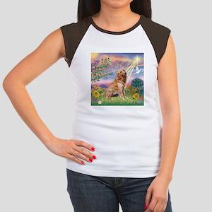 Cloud Angel / Golden Women's Cap Sleeve T-Shirt