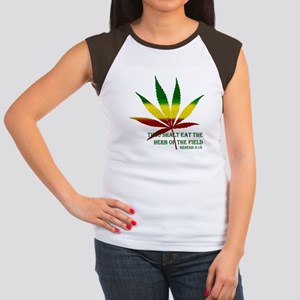Rastafarian Lion Women's Cap Sleeve T-Shirt
