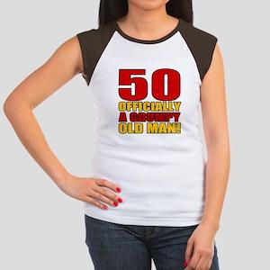 Grumpy 50th Birthday Women's Cap Sleeve T-Shirt