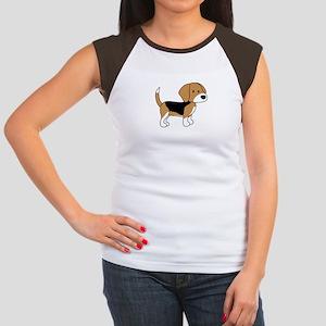Cute Beagle Women's Cap Sleeve T-Shirt