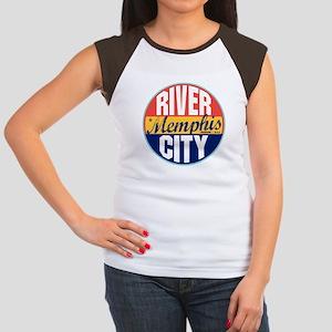 Memphis Vintage Label Women's Cap Sleeve T-Shirt