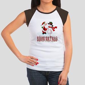Buon natale Women's Cap Sleeve T-Shirt