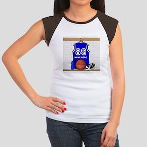 Personalized Basketball Jerse Women's Cap Sleeve T