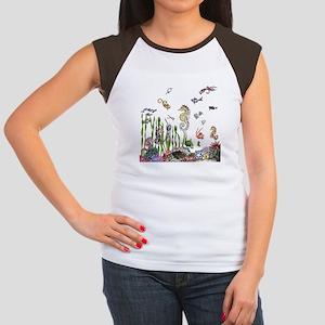 Ocean Life Women's Cap Sleeve T-Shirt