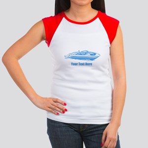 Motorboat. Add Your Text. Women's Cap Sleeve T-Shi