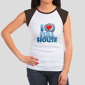 I Heart Full House Women's Cap Sleeve T-Shirt