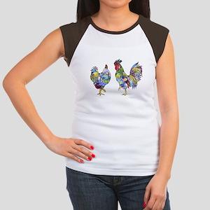 Rooster & Hen Women's Cap Sleeve T-Shirt
