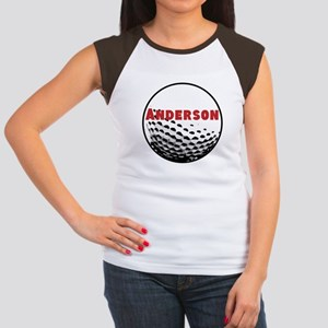 Personalized Golf Women's Cap Sleeve T-Shirt