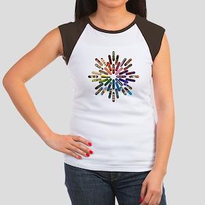 Skateboard Art Mandala Women's Cap Sleeve T-Shirt