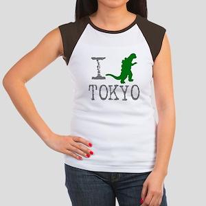 I Godzilla TOKYO (original) Women's Cap Sleeve T-S