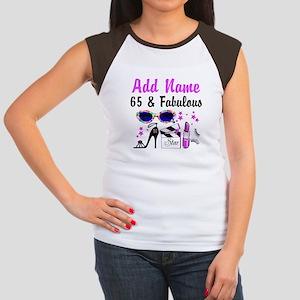 HAPPY 65TH BIRTHDAY Women's Cap Sleeve T-Shirt