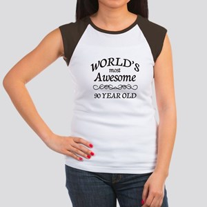 Awesome 90 Year Old Women's Cap Sleeve T-Shirt