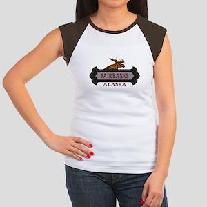 Fairbanks Fleur de Moose Women's Cap Sleeve T-Shir