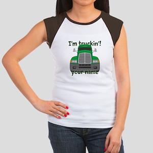 Personalized Im Truckin Women's Cap Sleeve T-Shirt