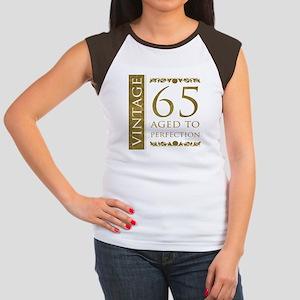 Fancy Vintage 65th Birthday Women's Cap Sleeve T-S