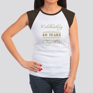 Celebrating 40 Years Together Women's Cap Sleeve T