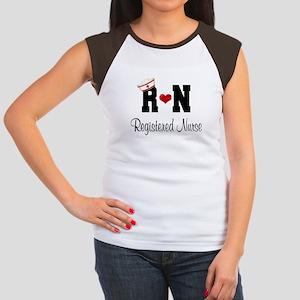 Registered Nurse (RN) Women's Cap Sleeve T-Shirt
