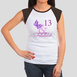 Fabulous 13th Birthday For Girls Women's Cap Sleev