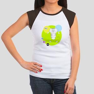LIME GREEN PINK BLUE KITTY T-Shirt