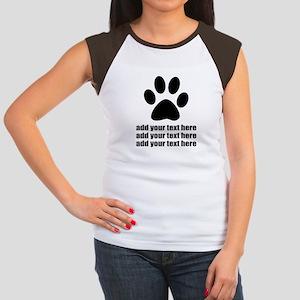Dog's paw Women's Cap Sleeve T-Shirt
