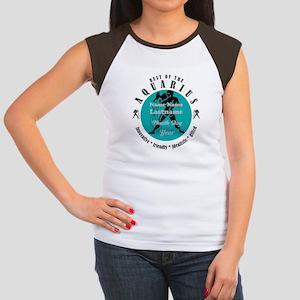 Custom Text Aquarius Horoscope Zodiac Sign T-Shirt