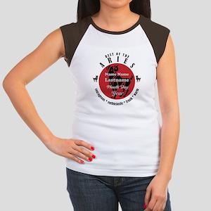Custom Text Aries Horoscope Zodiac Sign T-Shirt