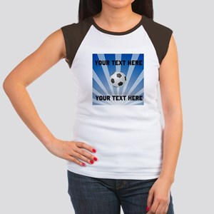 Personalized Soccer Junior's Cap Sleeve T-Shirt