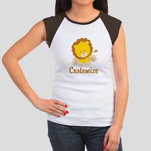Custom Baby Lion Junior's Cap Sleeve T-Shirt