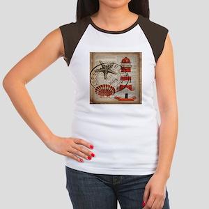 vintage lighthouse sea shells T-Shirt