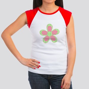 Pink and Green Flowers T-Shirt