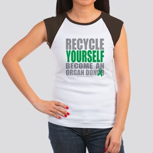 Organ Donor Recycle Yourself Women's Cap Sleeve T-