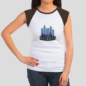 Atlanta Skyline Newwave Cool Women's Cap Sleeve T-