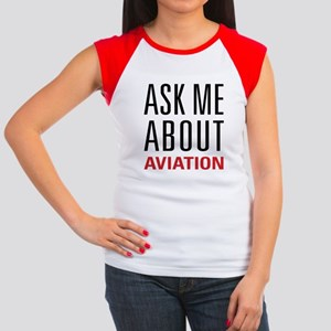 Aviation - Ask Me About Women's Cap Sleeve T-Shirt