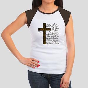 Plan of God Jeremiah 29:11 Women's Cap Sleeve T-Sh