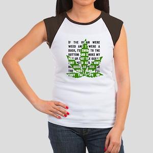 Weed Poem Women's Cap Sleeve T-Shirt
