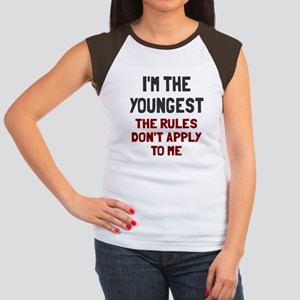 I'm the youngest rules Junior's Cap Sleeve T-Shirt